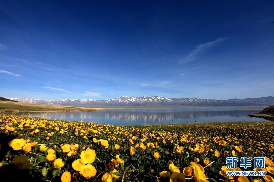 Живописные весенние пейзажи озера Сайрам-Нур (Сайлиму) в СУАР