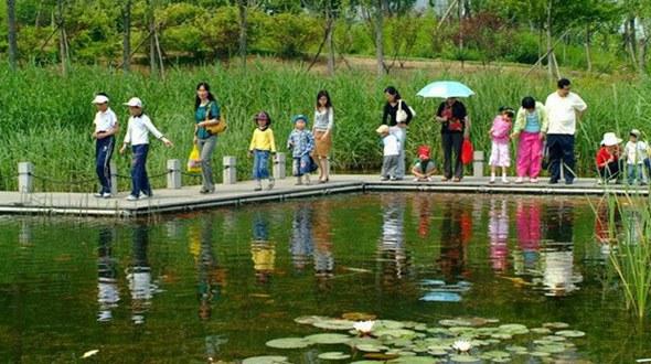 Парк Иньхэ в городе Жичжао