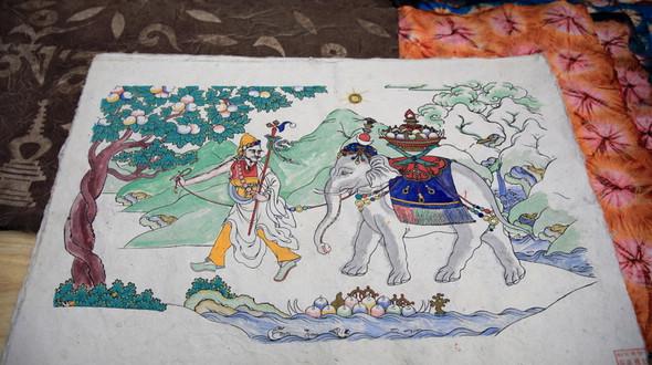 Тибетские изделия на выставке нематериального наследия