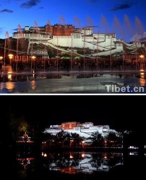 Ночные виды дворца Потала