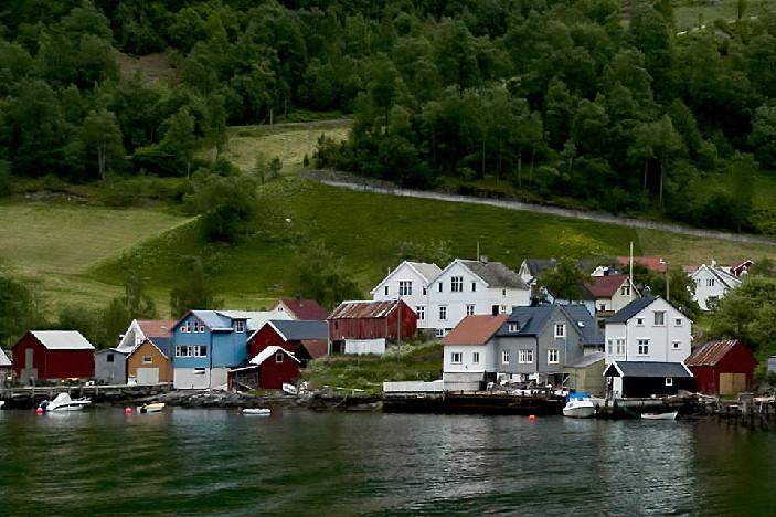 Красивый пейзаж фиордов в Норвегии