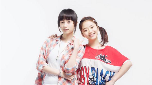 Актрисы Тань Сунъюнь и Ху Бинцин в съемках телесериала
