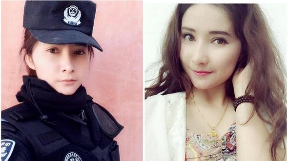 Фотографии красивой уйгурской сотрудницы полиции стали популярными в китайском Интернете