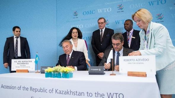 Утверждено вступление Казахстана в ВТО