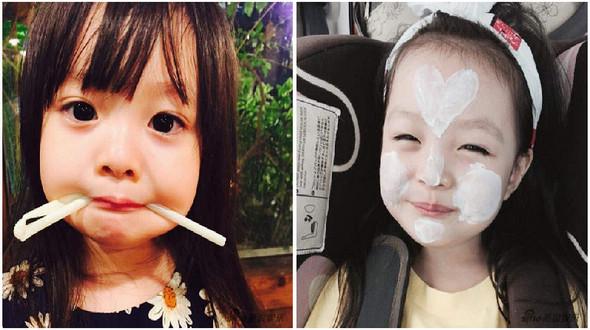 Симпатичная японско-корейская девочка-метис