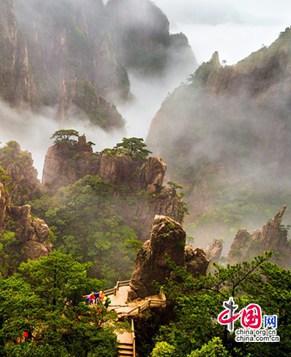 Летние пейзажи гор Хуаншань