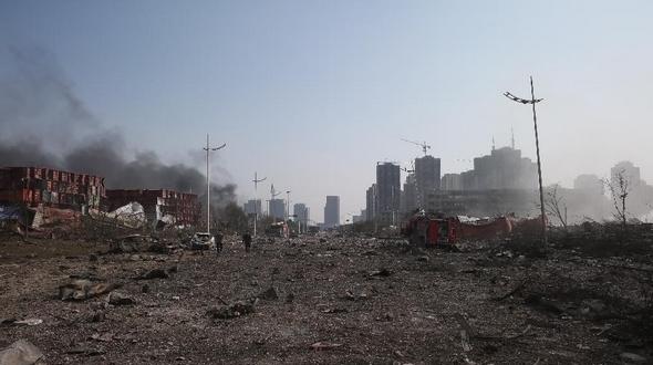 Фотографии на месте взрыва в Тяньцзине