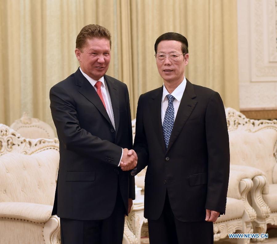 Вице-премьер Госсовета КНР Чжан Гаоли встретился с главой компании 'Газпром' А. Миллером