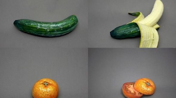 Легким движением фоторедактора фрукты превращаются в нечто иное