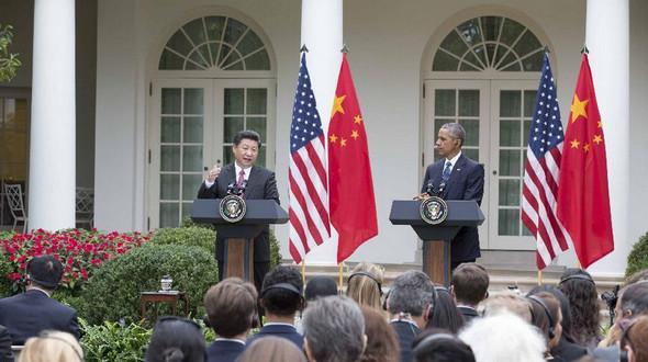 Си Цзиньпин и Б. Обама совместно встретились с журналистами