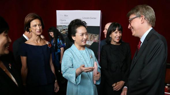 Пэн Лиюань посетила Линкольновский центр исполнительных искусств и Чжульярдскую школу