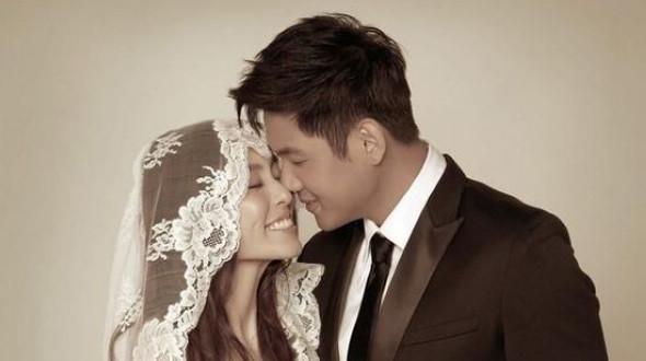 Китайские, японские и южнокорейские звезды в свадебном платье