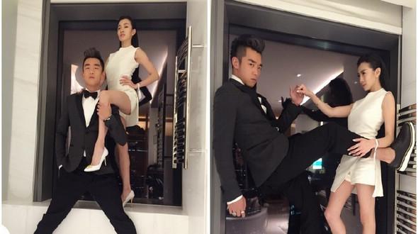 Интересные фото актера Чжэн Кая и его подруги