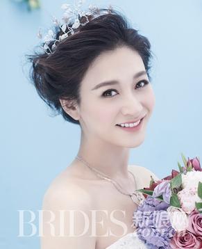 Ли Сяожань в свадебном платье для модного журнала