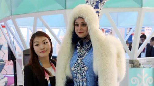 Русские красавицы на втором Китайско-российском ЭКСПО