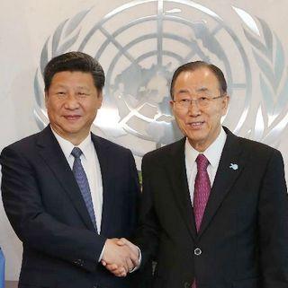 Си Цзиньпин провел встречу с генсекретарем ООН Пан Ги Муном