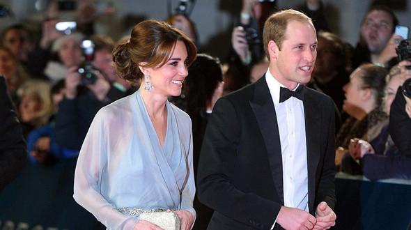 Кейт Миддлтон и принц Уильям присутствовали на премьере фильма «007: Спектр»