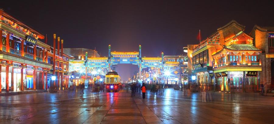 Пешеходная улица Цяньмэнь в Пекине