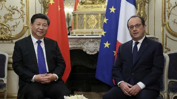 Си Цзиньпин встретился с президентом Франции Франсуа Олландом