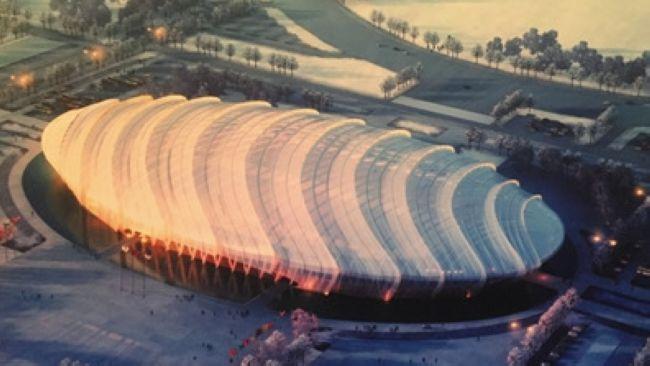 Эскиз стадиона Зимней Олимпиады в Пекине впервые увидел свет: конькобежный стадион напоминает «куколку шелкопряда»