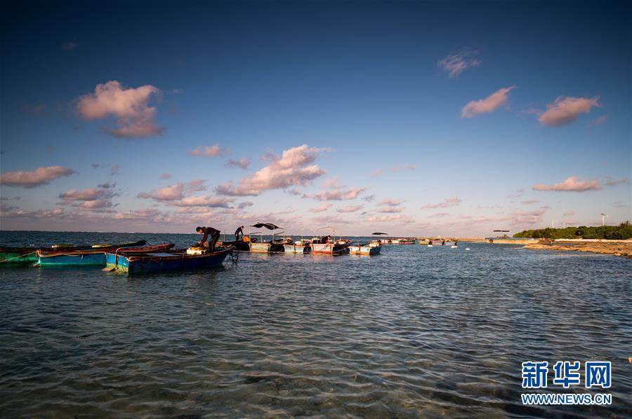 Островные пейзажи в городе Саньша провинции Хайнань