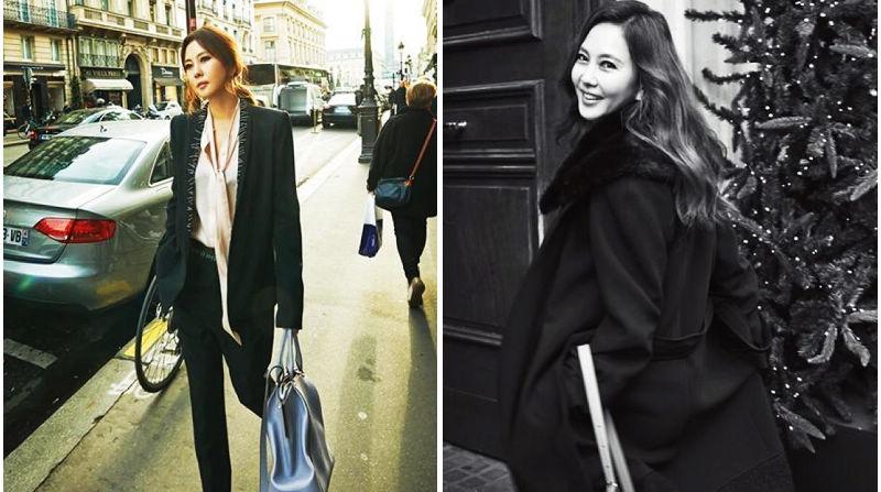 Южнокорейская красотка Ким Нам Чжу в модных блокбастерах в Париже