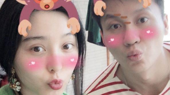 Счастливые влюбленные Ли Чэнь и Фань Бинбин