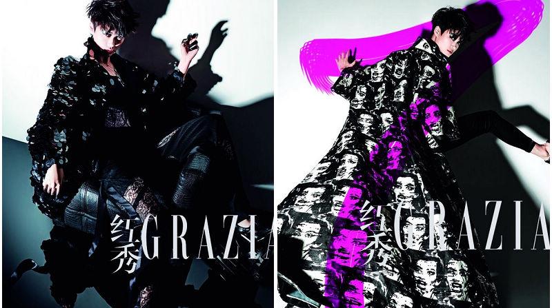 Известная китайская певица Ли Юйчунь попала на модный журнал