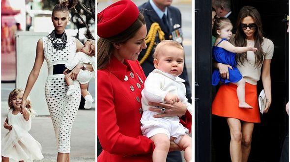 Звезды демонстрируют, как правильно носить детей на руках