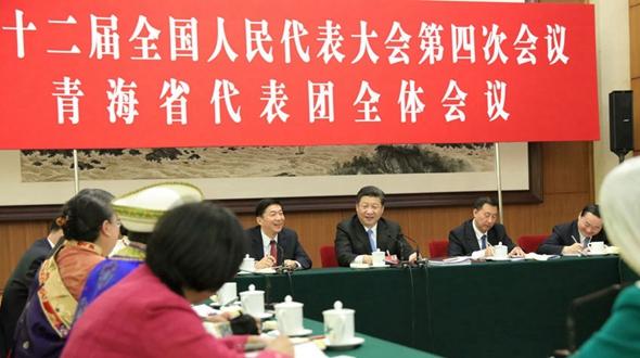 Си Цзиньпин принял участие в групповой дискуссии вместе с депутатами провинции Цинхай