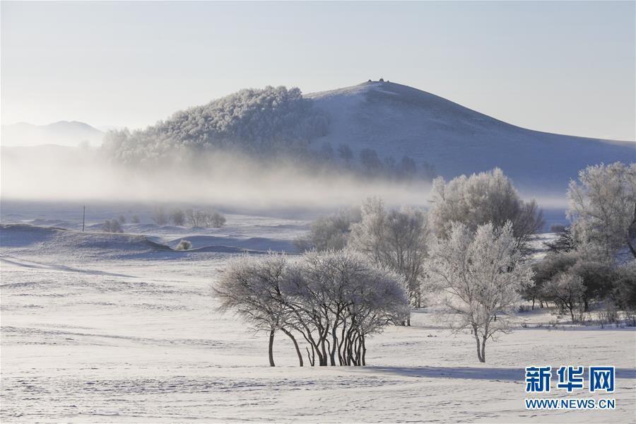 Морозная красота степей Уланьбутун во Внутренней Монголии