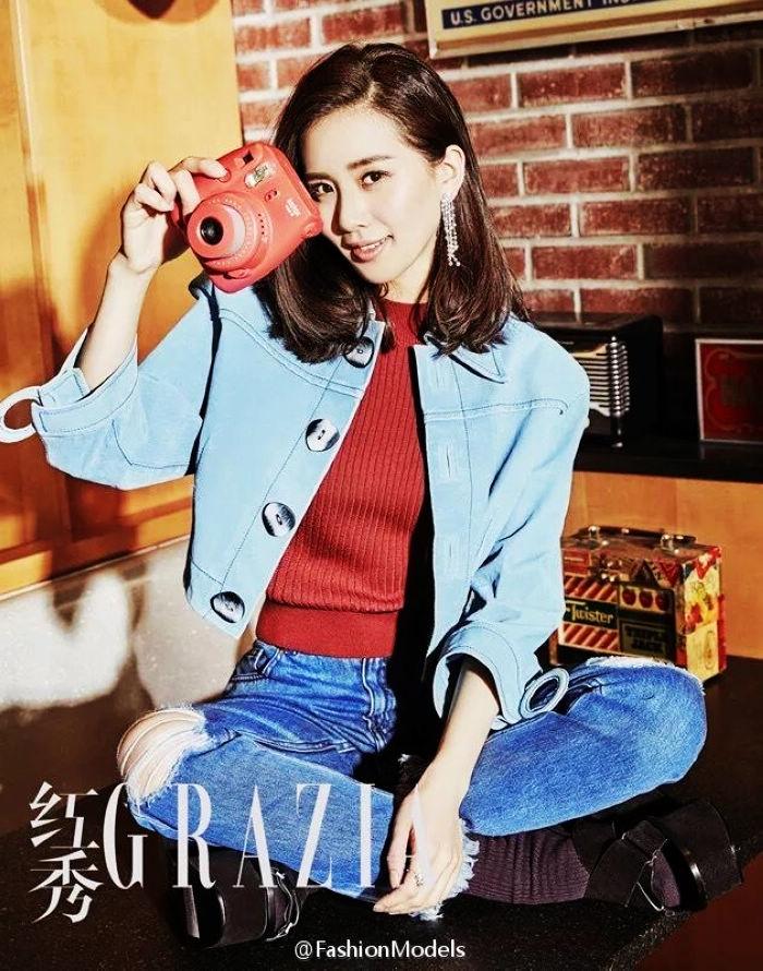 Гламурная красотка Чжан Юйци на обложке модного журнала