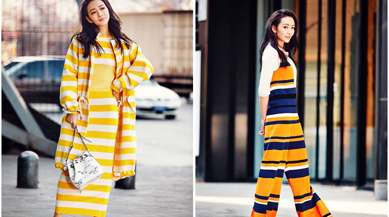 Красотка Ван Оу в уличной съемке