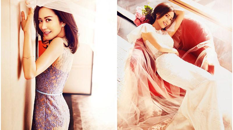 Красотка Юй Фэйхун в свадебных снимках