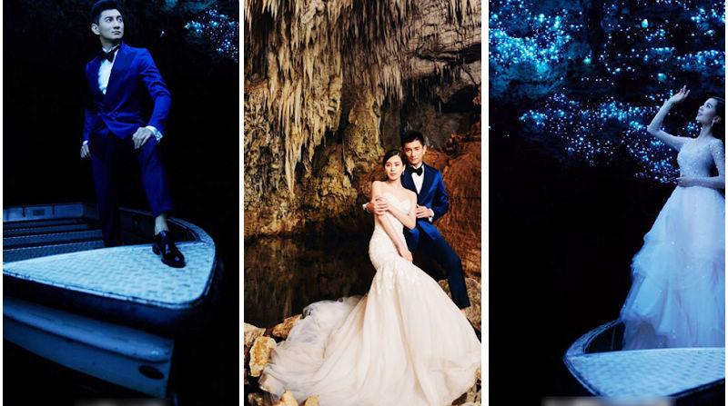 Супруги-звезды У Цилун и Лю Шиши в свадебных снимках