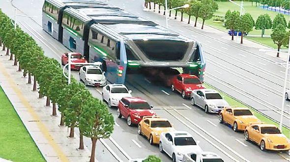 В этом году в континентальном Китае пройдет испытание нового чудо-автобуса