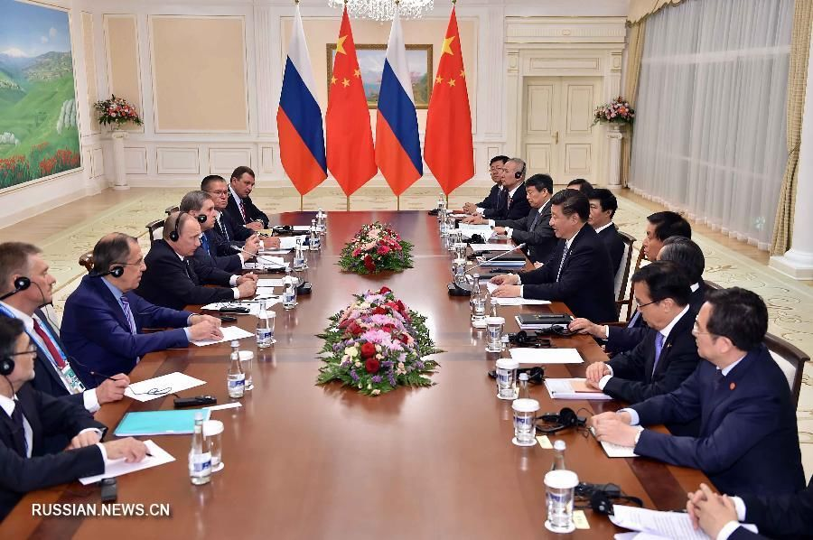 Си Цзиньпин встретился с В.Путиным в Ташкенте