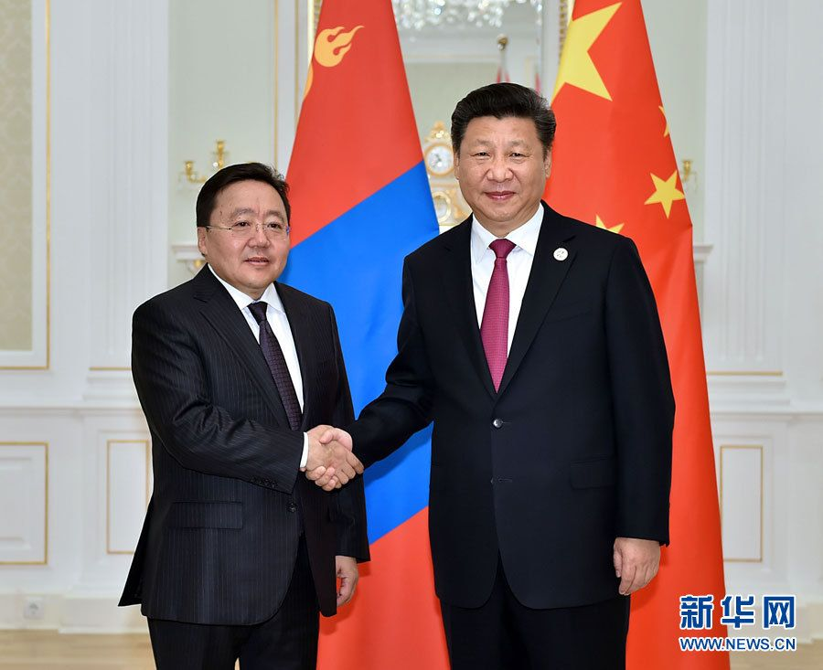 Си Цзиньпин встретился с президентом Монголии Цахиагийном Элбэгдоржем