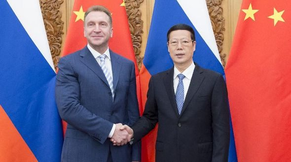 Чжан Гаоли и Игорь Шувалов председательствовали на третьем заседании Китайско-российского комитета по инвестиционному сотрудничеству