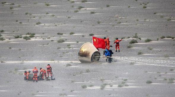 Возвращаемая капсула на борту 'Чанчжэн-7' успешно приземлилась