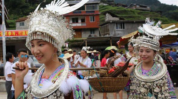 Мяоский фестиваль Синьхэ в уезде Жуншуй