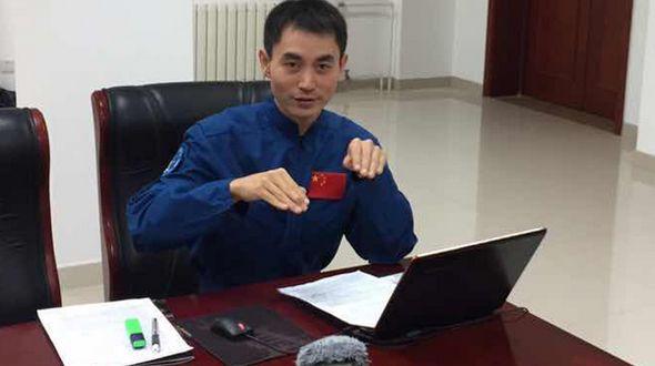 Публика впервые познакомилась с китайским космонавтом Е Гуанфу