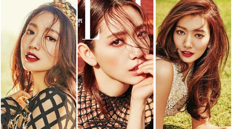 Южнокорейская актриса и певица Пак Синхе попала на «ELLE»