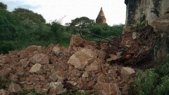 В Мьянме произошло землетрясение силой 6,8 балла, 2 человека погибли