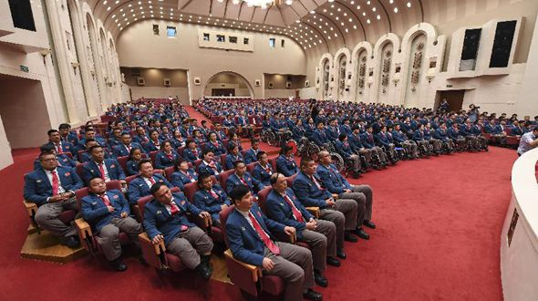 В Пекине состоялась церемония проводов китайских паралимпийцев в Рио