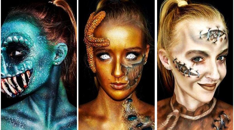 16-летняя австралийка и самоучка в страшном макияже!