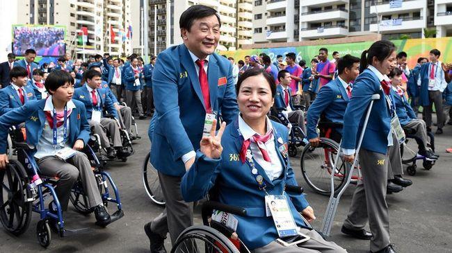 Паралимпиада-2016 -- Китайские спортсмены провели церемонию поднятия государственного флага КНР