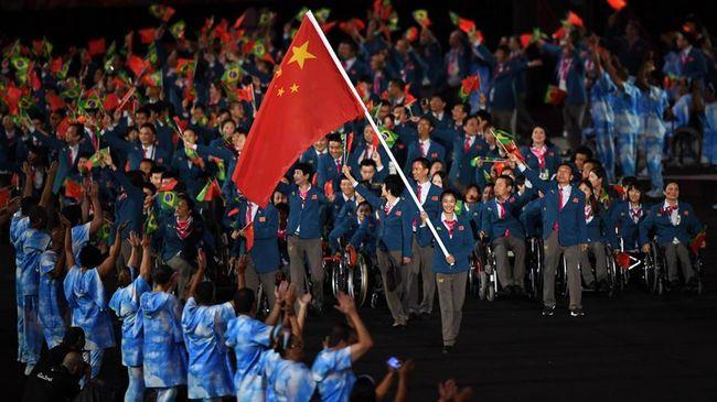 Китайская делегация на церемонии открытия Паралимпиады-2016 в Рио-де-Жанейро