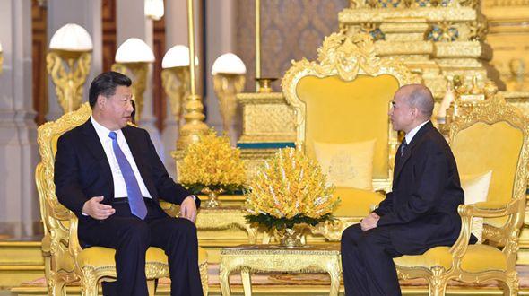 Си Цзиньпин встретился с королем Камбоджи Нородомом Сиамони