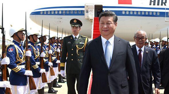 Си Цзиньпин прибыл в Пномпень с визитом в Камбоджу